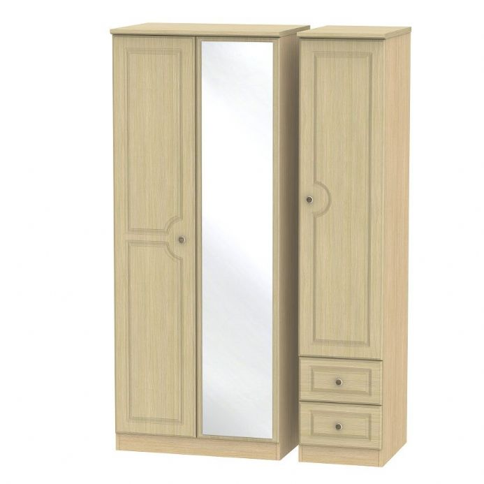 Pembroke Triple Mirror + Drawer Robe